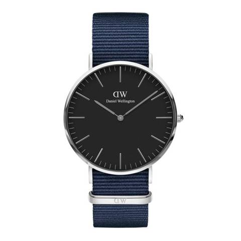 Daniel Wellington Midnight Blue /Black Classic Bayswater Watch 40mm