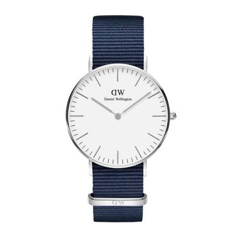 Daniel Wellington Midnight Blue / White Classic Bayswater Watch 36mm