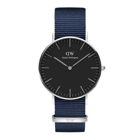 Daniel Wellington Midnight Blue / Black Classic Bayswater Watch 36mm