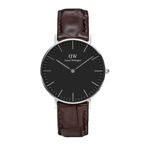 Daniel Wellington Dark Brown / Black Classic York Watch 36mm
