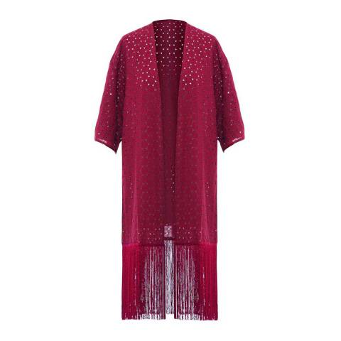 Paolita Solids Bordeaux Kimono