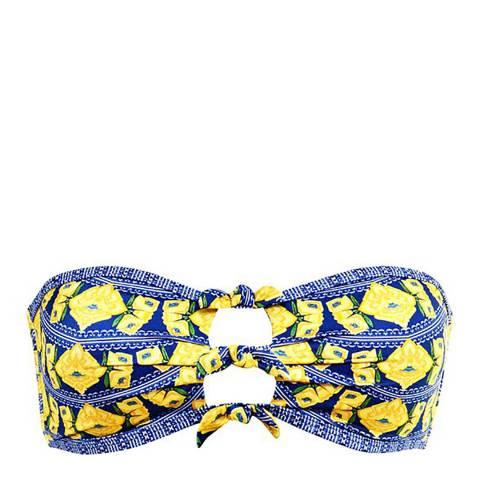 Paolita Blue/Yellow Jarabe Bikini Top