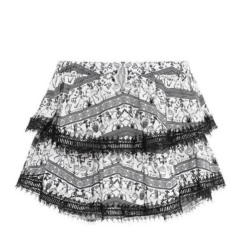 Paolita Black/White Catrina Skirt