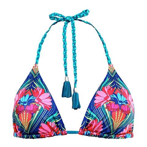Paolita Blue/Pink Agave Bikini Top