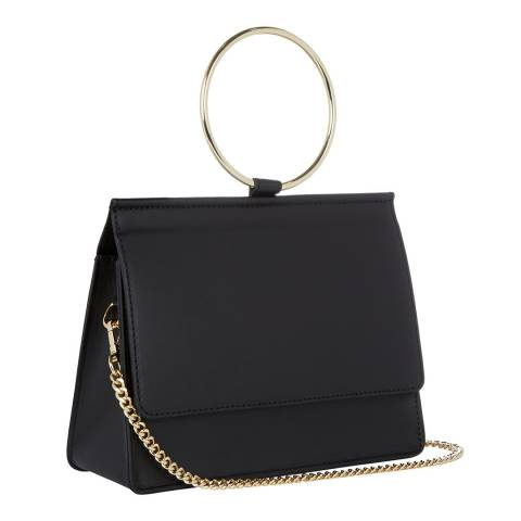 Giorgio Costa Black Leather Top Handle Bag