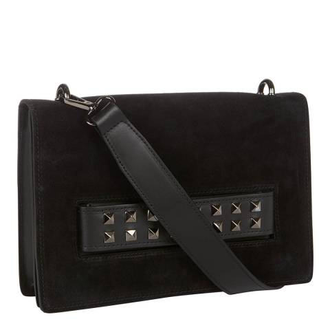 Giorgio Costa Black Stud Detail Clutch / Shoulder Bag