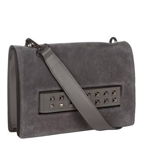 Giorgio Costa Dark Grey Stud Detail Clutch / Shoulder Bag