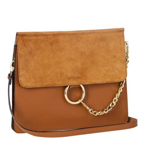 Markese Cognac Clutch / Shoulder Bag