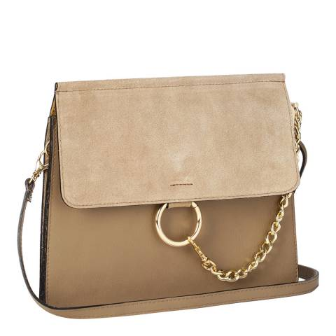 Markese Beige Clutch / Shoulder Bag