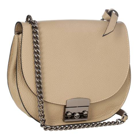 Krole Taupe Cross Body / Shoulder Leather Bag
