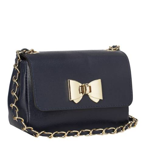 Giorgio Costa Navy Bow Shoulder Bag