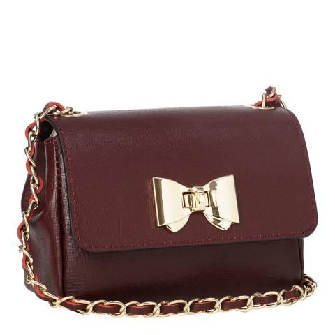 Giorgio Costa Wine Bow Shoulder Bag
