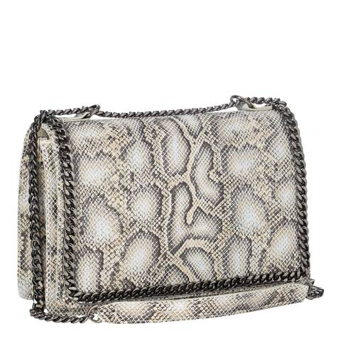 Lisa Minardi Grey Snake Print Shoulder bag