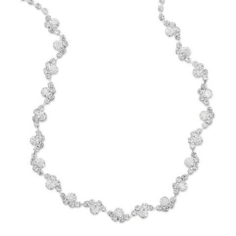 Liv Oliver Silver Embellished Eternity Necklace