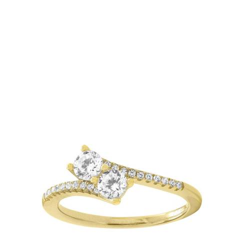 Liv Oliver 18K Gold Plated Double Zirconia Ring