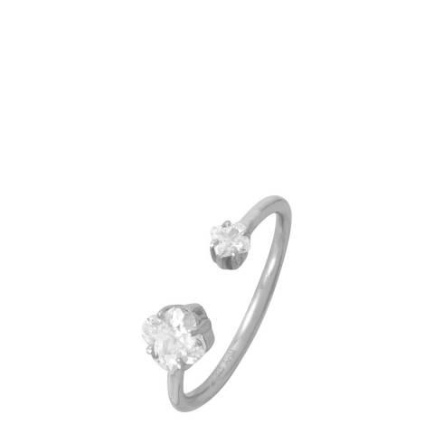 Liv Oliver Sterling Silver CZ Split Ring