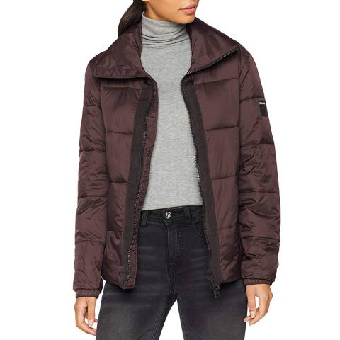 Replay Coffee Quilted Down Jacket