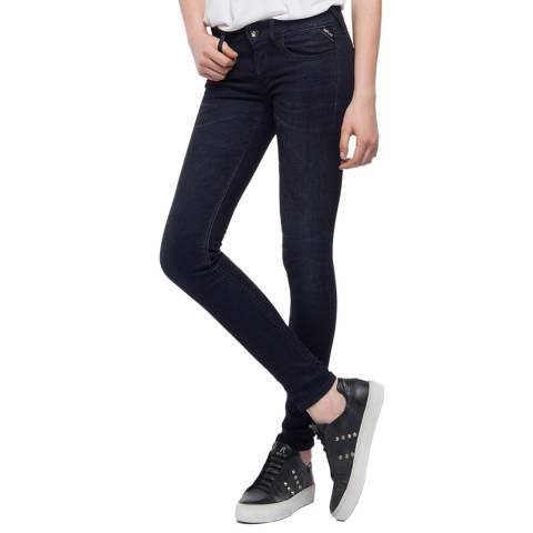 Replay Deep Grey Luz Skinny Jeans