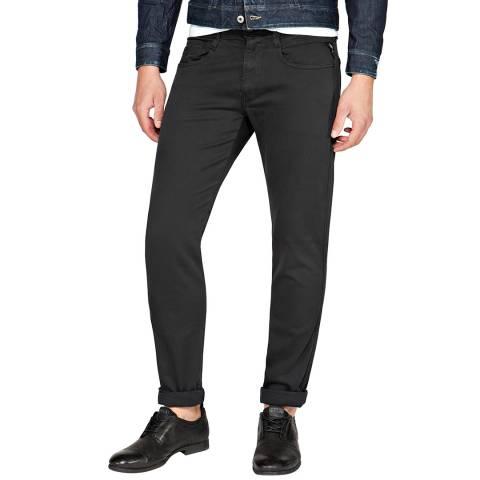Replay Black Anbass Hyperflex Slim Stretch Jeans