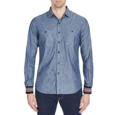 Replay Blue Denim Casual Cotton Shirt