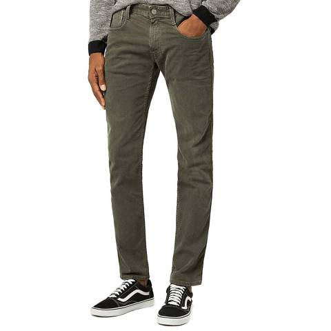 Replay Anthracite Anbass Stretch Slim Jeans