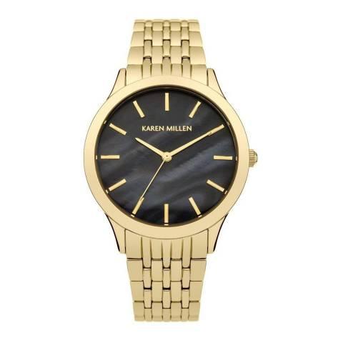 Karen Millen Gold Stainless Steel Round Watch