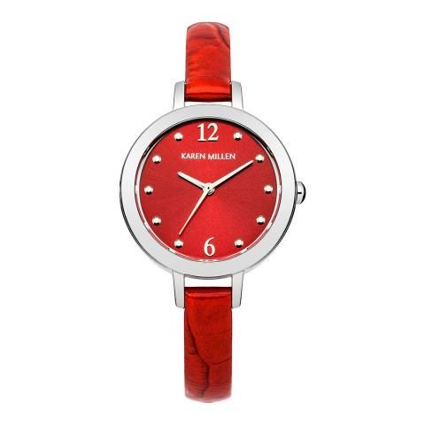 Karen Millen Red Red Round Watch