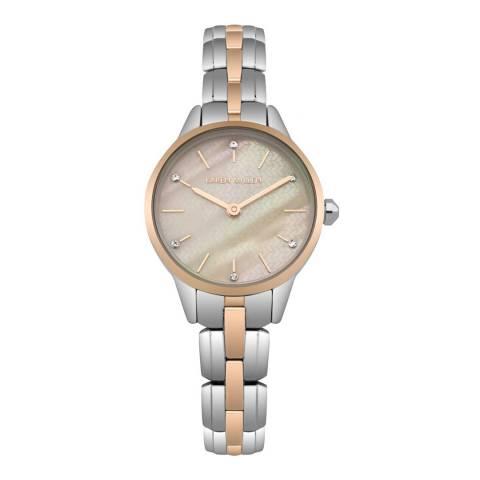 Karen Millen Silver/Rose Gold Stainless Steel Round Watch