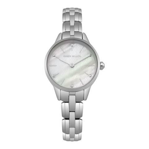 Karen Millen Silver Stainless Steel Round Watch