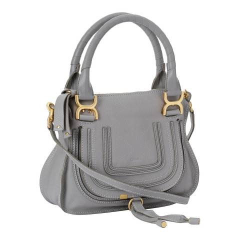 Chloe Cashmere Grey Small Marcie Double Carry Bag