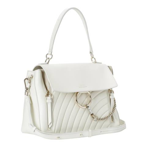 Chloe Natural White Medium Faye Day Shoulder Bag