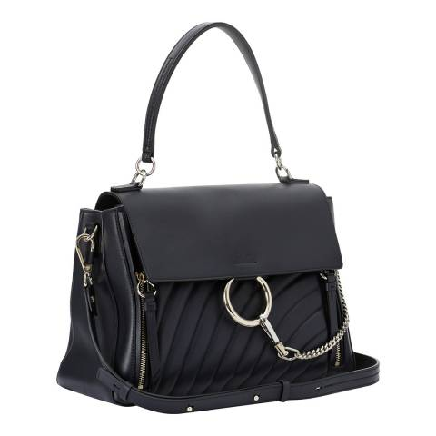 Chloe Full Blue Medium Faye Day Shoulder Bag