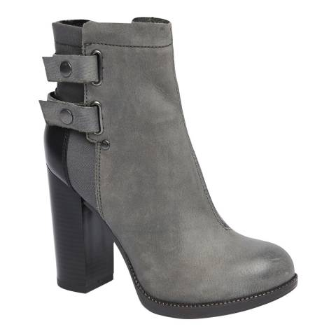 G-Star Grey Nubuck-Calf Ranker Ankle Boots