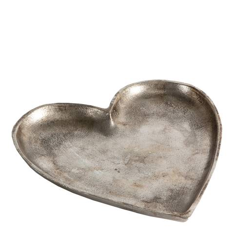 Gallery Silver Carrigan Heart Dish 16x16cm
