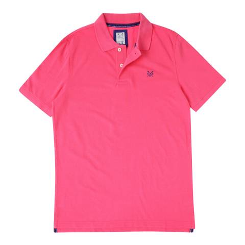 Crew Clothing Pink Short Sleeve Polo