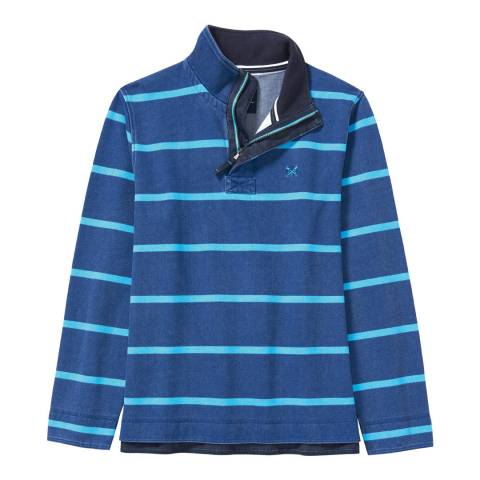 Crew Clothing Blue/Navy Padstow Pique Sweat