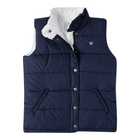 Crew Clothing Navy/White Gilet