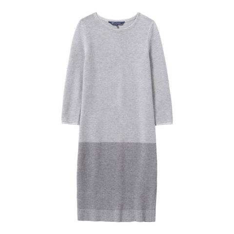 Crew Clothing Grey Beaford Knitted Dress