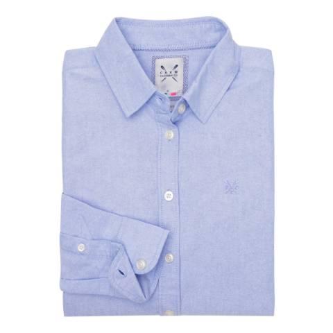 Crew Clothing Blue Oxford Shirt