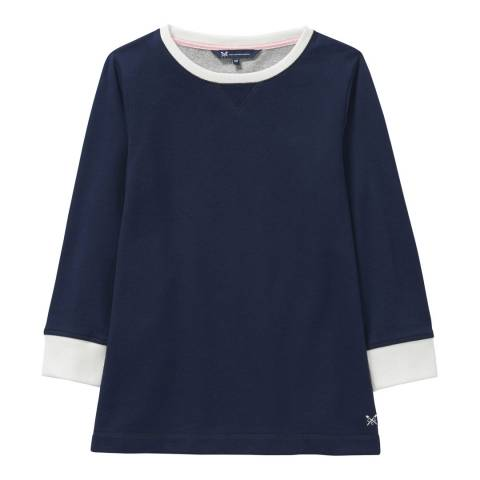Crew Clothing Navy/White Colour block Sweat