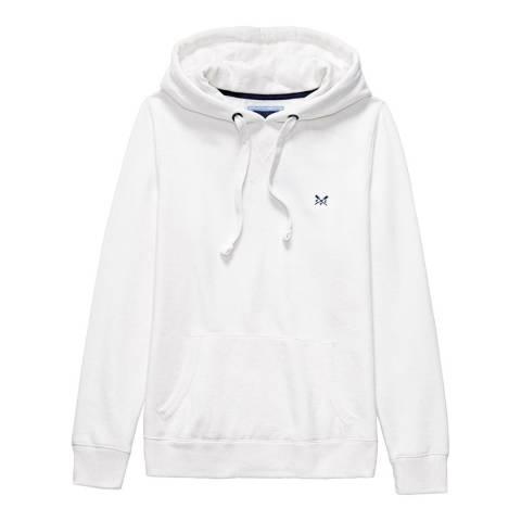 Crew Clothing White Crew Logo Hoody