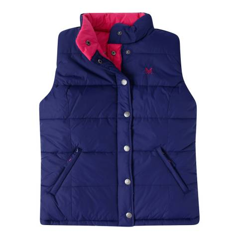 Crew Clothing Navy/Pink Reversable Gilet