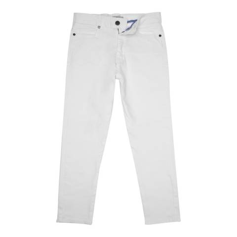 Crew Clothing White Crop Trousers