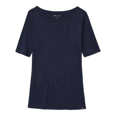 Crew Clothing Navy Exmouth Tee