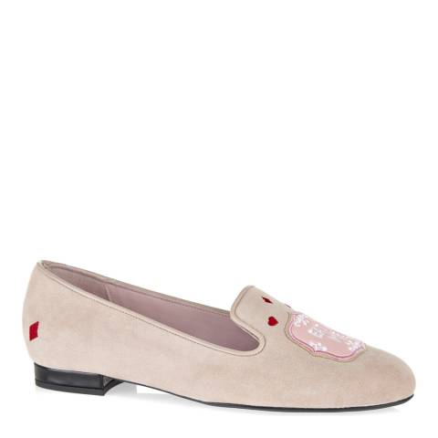 French Sole Taupe Suede Hefner Slipper Style Shoes