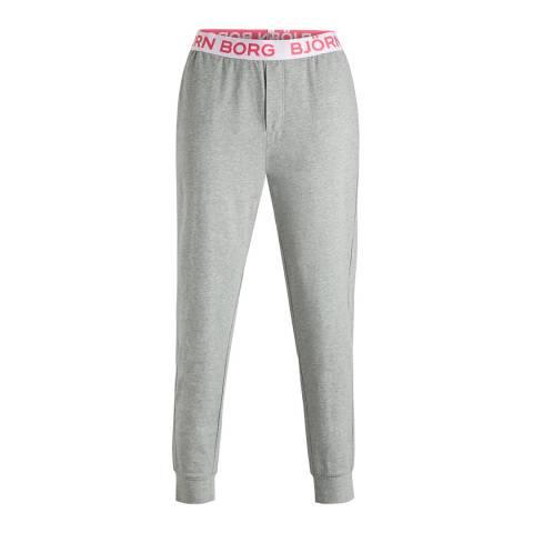 BJORN BORG Grey Seasonal Solid Cuffed Pant