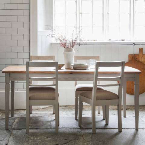 Gallery Bronte Extending Dining Table Set with 4 Chairs in Taupe