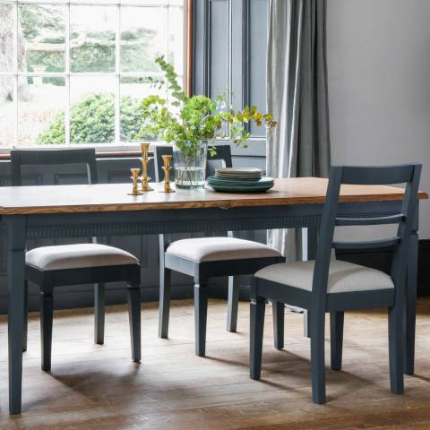 Gallery Bronte Extending Dining Table Set with 4 Chairs in Storm