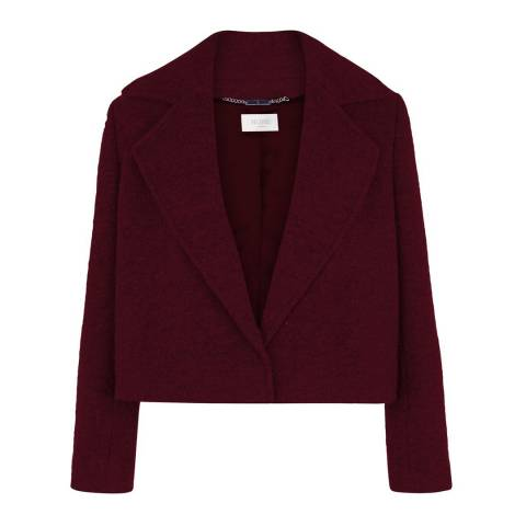 Hobbs London Burgundy Wool Blend Salem Jacket