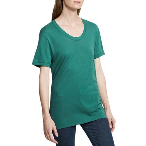 Zoe Karssen Antique Green Loose Fit T-Shirt